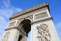 Arc de Triomphe in Paris Stock Images