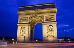 Arc de Triomphe in Paris. The magnificent Arc de Triomphe in Paris, France Stock Photography
