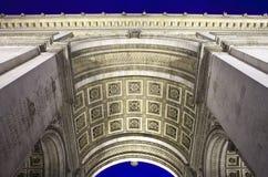Arc de Triomphe in Paris. The magnificent Arc de Triomphe in Paris, France Royalty Free Stock Images