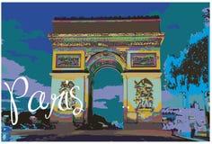 Arc de Triomphe in Paris Royalty Free Stock Photo