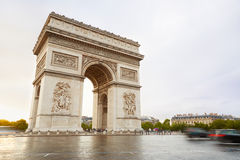 Arc de Triomphe in Paris in the morning Stock Images