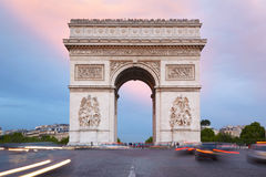 Arc de Triomphe in Paris, morning Royalty Free Stock Photo
