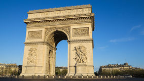 Arc de Triomphe, Paris. In morning light stock photography