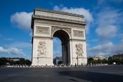 Arc de triomphe paris. Arc de triomphe with no traffic Royalty Free Stock Photos