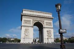 Arc de triomphe paris. Arc de triomphe with no traffic Stock Photos