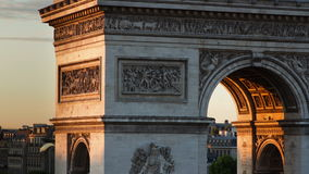 Arc de triomphe paris stock video