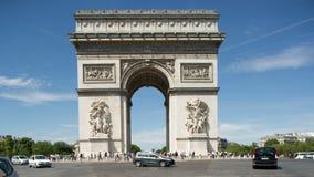 Arc de triomphe paris stock video