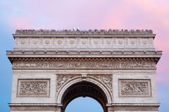 Arc de Triomphe in Paris, roof top. With tourists Stock Image