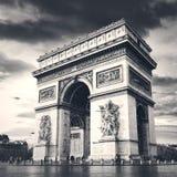 Arc de Triomphe Paris stad Arkivfoton