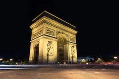 Arc de Triomphe Paris stad Arkivbilder
