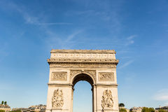 Arc de Triomphe in Paris on a sunny day Stock Photo