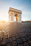 Arc de Triomphe, Paris. Sunrise at Arc de Triomphe, Paris (France Royalty Free Stock Image