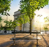 Arc de Triomphe in Paris. At the sunset Stock Photo