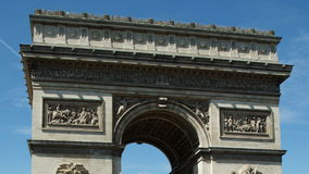 Arc de triomphe paris stock video footage