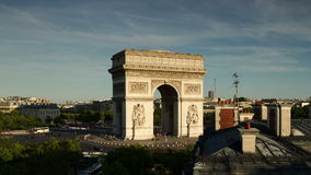 Arc de triomphe paris stock footage