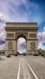 Arc de Triomphe, Paris. Triumph Arc at summer sunset.  Royalty Free Stock Photos
