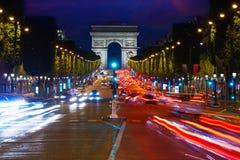 Arc de Triomphe in Paris-Triumphbogen lizenzfreies stockfoto