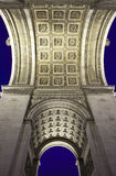 Arc de Triomphe in Paris. Underneath the magnificent Arc de Triomphe in Paris Royalty Free Stock Photography