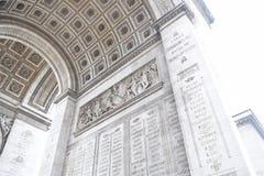 Arc de Triomphe, Paris. An underneath photograph of the Arc de Triomphe design Royalty Free Stock Photos