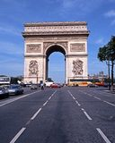 Arc de Triomphe, Paris. View of the Arc de Triomphe along the Place Charles de Gaulle at the end of the Champs-Elysees, Paris, France, Western Europe Royalty Free Stock Images