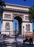 Arc de Triomphe, Paris. View of the Arc de Triomphe along the Place Charles de Gaulle at the end of the Champs-Elysees, Paris, France, Western Europe Stock Photos