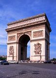 Arc de Triomphe, Paris. View of the Arc de Triomphe along the Place Charles de Gaulle at the end of the Champs-Elysees, Paris, France, Western Europe Stock Photo