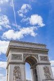 Arc de Triomphe in Paris. View at the Arc de Triomphe in Paris, France Royalty Free Stock Photo