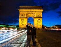 Arc de Triomphe Paris selfie Stock Photo