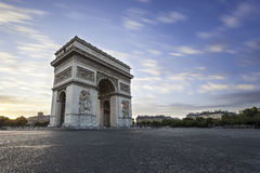 The 'Arc de Triomphe'. Picture taken during the sunset in Paris, France Stock Image