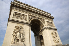Arc de Triomphe. At Place Charles de Gaulle in Paris. France Stock Photography