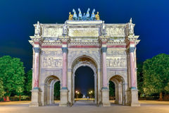 Arc de Triomphe at the Place du Carrousel Royalty Free Stock Images