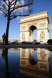Arc de Triomphe after rain. Arc de triomphe de l'Étoile after rain Stock Photo