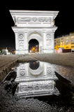 Arc de Triomphe reflection. Arc de Triomphe, Triumfalna kapija Skopje, Macedonia Stock Image