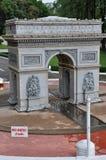 Arc De Triomphe Replica. At Mini Siam in Pattaya, Thailand Stock Image