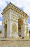 Arc de triomphe replica at window of the world, shenzhen, china. Replica of the world famous arc de triomphe, displayed at window of the world theme park located Royalty Free Stock Photos