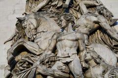Arc de Triomphe sculpture. Detail of Arc de Triomphe sculpture in Paris, France Stock Photo