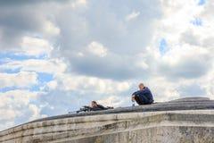 Arc de Triomphe -sluipschutters royalty-vrije stock foto's