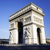Arc de Triomphe square. View of the Arc de Triomphe, Paris, France Royalty Free Stock Photo