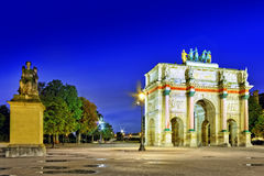 Arc de Triomphe in the square Karruzel (Jardin des Tuileries) . Paris. France Stock Photography