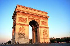 Arc de triomphe at Sunset, Paris Royalty Free Stock Images