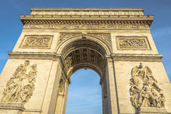 Arc de Triomphe at sunset. In Paris, France Stock Photography