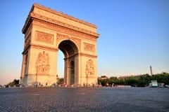 Arc de triomphe at Sunset, Paris Stock Photo