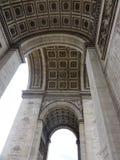 Arc de Triomphe sur l'endroit de l vue toile de ‰ du ` Ã - Frances - du fond Photographie stock