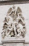 Arc de Triomphe sur les champs élyséens Photographie stock