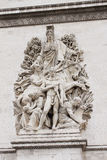Arc de Triomphe sur les champs élyséens Photos stock