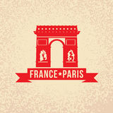 Arc de Triomphe - The symbol of France, Paris. Royalty Free Stock Image