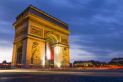 The Arc de Triomphe Royalty Free Stock Image