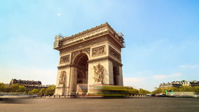 Arc de triomphe timelapse stock footage