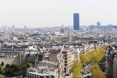 Arc de triomphe top , Paris. Apr 15 -2015 View on Paris from Arc de Triomphe Stock Photography
