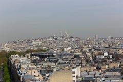 Arc de triomphe top , Paris. Apr 15 -2015 View on Paris from Arc de Triomphe Royalty Free Stock Photos